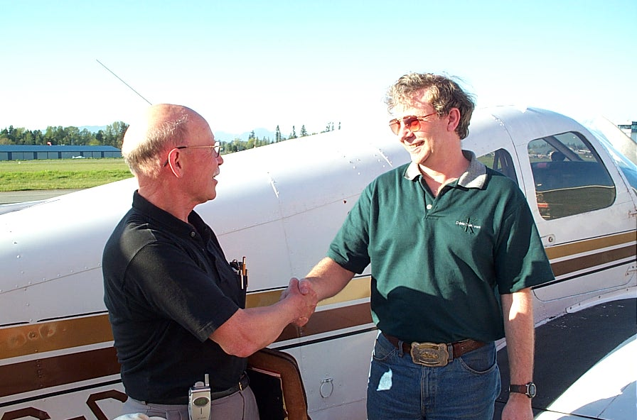 Donn Richardson and Brian Downing.  Langley Flying School.
