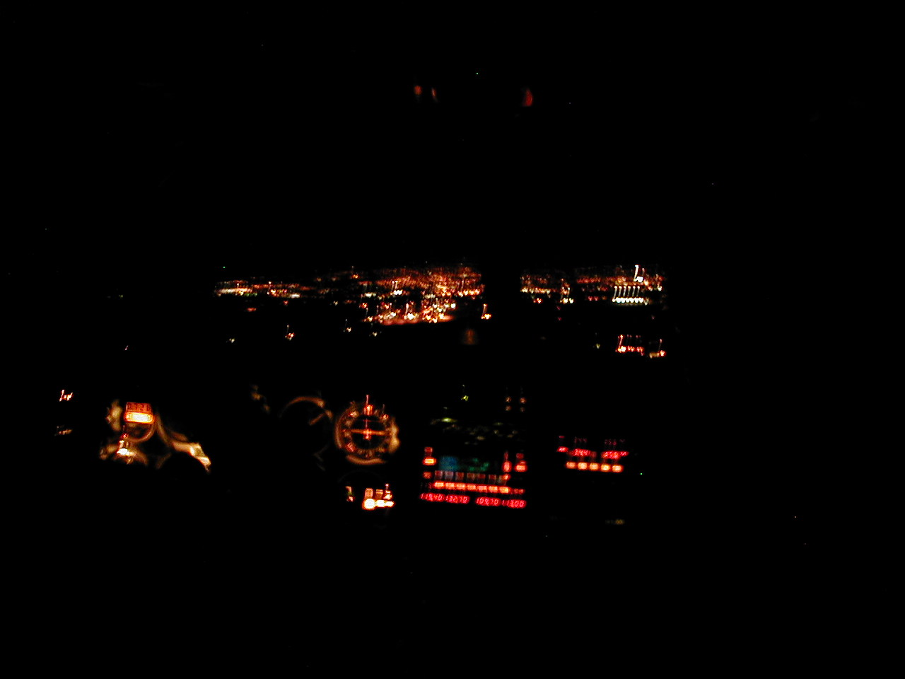 Night arrival into Abbotsford Airport, Langley Flying School