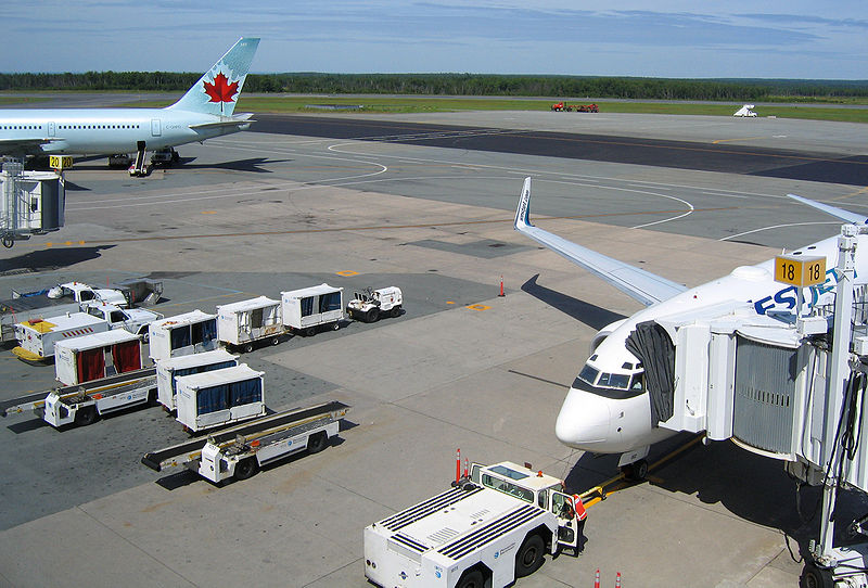 Halifax Airport apron. Courtesy Wikipedia. Langley Flying School.